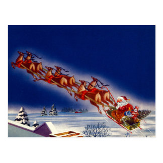 Santa on his Sleigh Post Cards