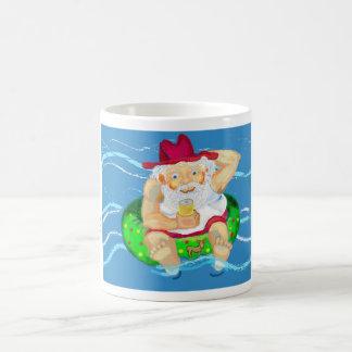 Santa on holidays coffee mugs