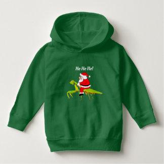Santa On Praying Mantis Toddler Christmas Hoodie
