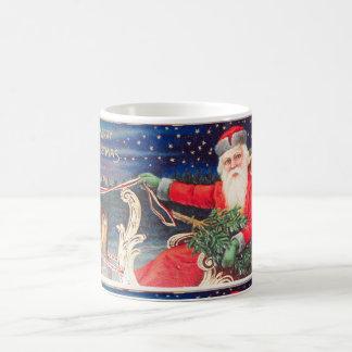 Santa on sleigh Thunder_Cove vintage Coffee Mug