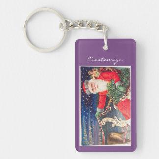 Santa on sleigh Thunder_Cove vintage Key Ring