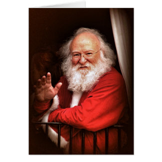Santa on the Train Christmas Cards
