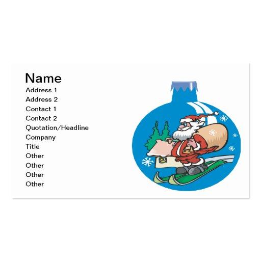 Santa Ornament Business Cards