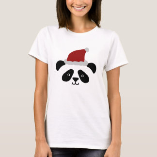 Santa Panda Ladies Tshirt