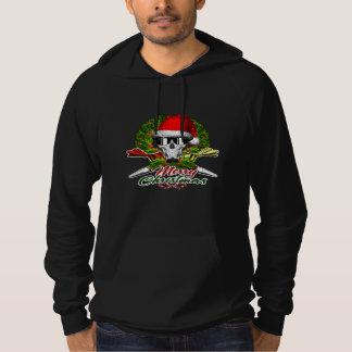 Santa Pastry Chef Skull: Merry Christmas Sweatshirt