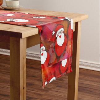 Santa Pattern Short Table Runner