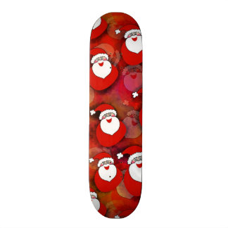 Santa Pattern Skate Boards