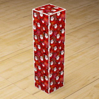 Santa Pattern Wine Gift Box