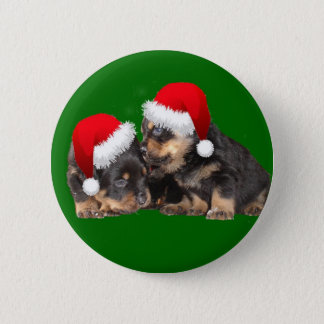 Santa Paws Is Coming to Town 6 Cm Round Badge