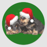 Santa Paws Is Coming to Town Round Sticker