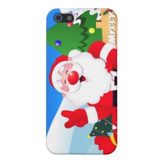 Santa Peace Sign Xmas iPhone 5 Covers