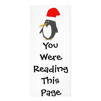 Santa Penguin Bookmark Template Rack Card