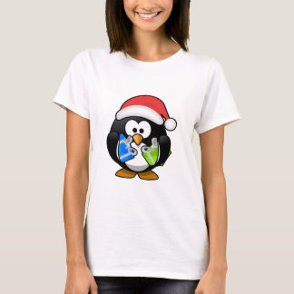 Santa Penguin Holding Presents/Gifts T-Shirt
