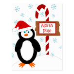 Santa Penguin North Pole Christmas Postcards