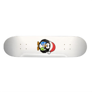 Santa Penguin with Presents Skate Board Decks