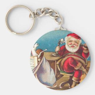 Santa Phone Call Key Chain