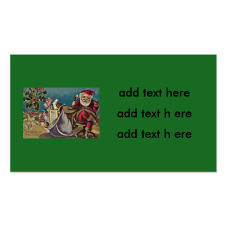 Santa Phone Sack of Toys Holly Pack Of Standard Business Cards