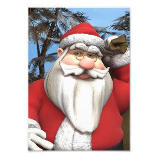 Santa Photo Print