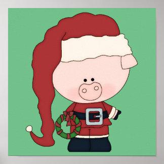 Santa Pig Claus Print