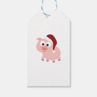 Santa Pig Gift Tags