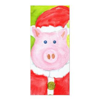 Santa Pig Invitations