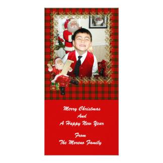 Santa Plaid Photo Card for Holidays
