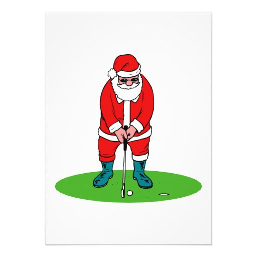 Santa plays golf announcement