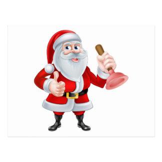 Santa Plumber Postcard