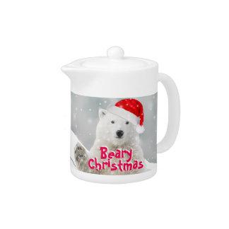 Santa Polar Bear | Beary Christmas Teapot