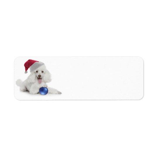 Santa Poodle Return Address/Gift Labels