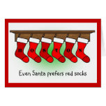 Santa prefers red socks