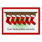 Santa prefers socks card
