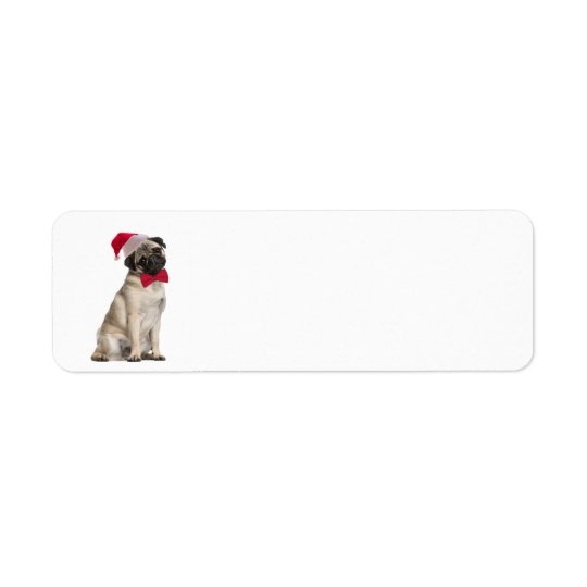 Santa Pug Return Address Labels