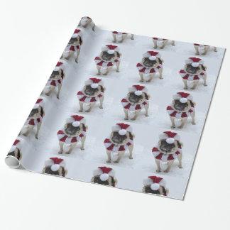 Santa Pug Wrapping Paper