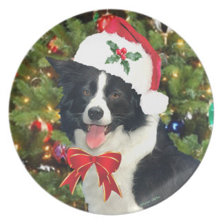 """""""Santa Pup"""" Holiday Plate"""