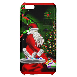 Santa Putting Gifts Under the Christmas Tree Case iPhone 5C Case