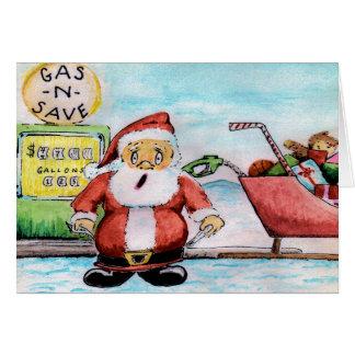 Santa Ran out of Gas Christmas Card! Card