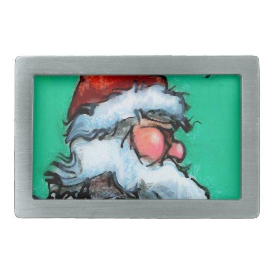Santa Rectangular Belt Buckles