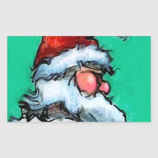 Santa Rectangular Sticker