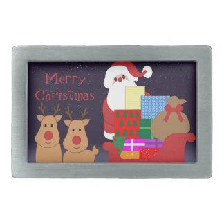 Santa & Reindeer Belt Buckle