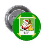 Santa & Reindeer  BFF's Pin