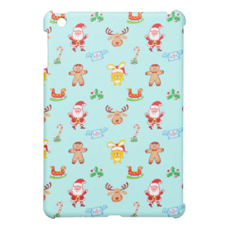 Santa, reindeer, bunny and cookie man Xmas pattern Cover For The iPad Mini