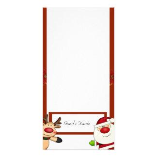 Santa & Reindeer Christmas Holiday Personalised Photo Card