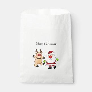 Santa & Reindeer Favour Bag