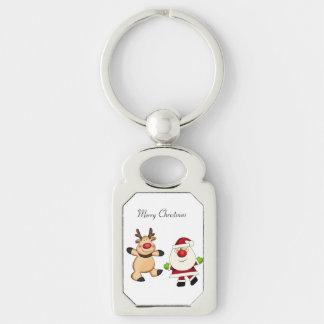 Santa & Reindeer Key Ring