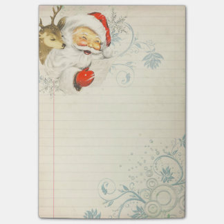 Santa & Reindeer Post-It Note Sticky Note Pad Post-it® Notes