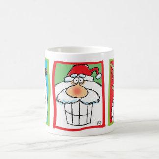 Santa, Reindeer & Snowman Christmas Cartoon Mug