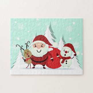 Santa, Reindeer & Snowman Christmas puzzle