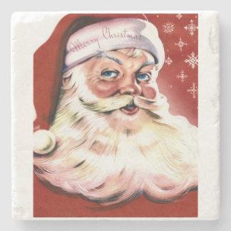 Santa Religion Christianity Holidays Christmas Stone Beverage Coaster