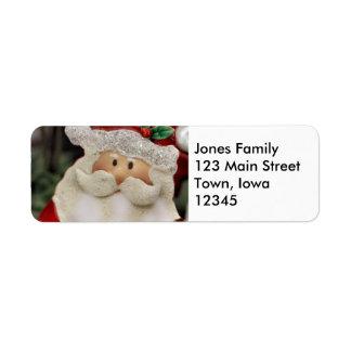 Santa Return Address Label